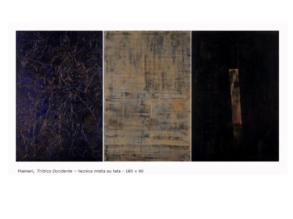 Mainieri, Trittico Occidente – tecnica mista su tela - 180 x 90