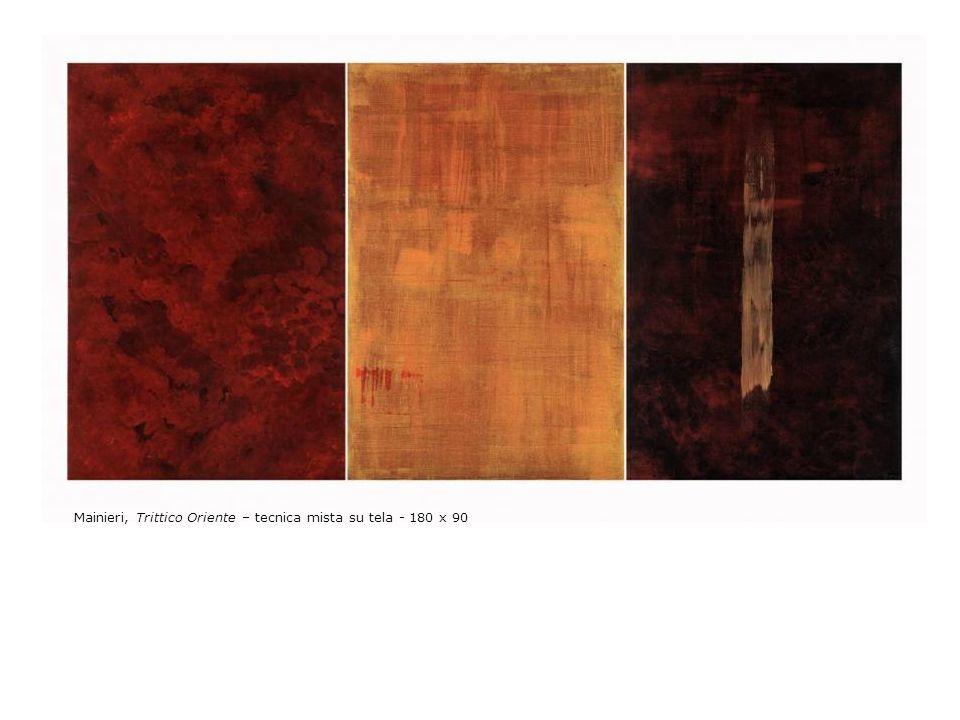 Mainieri, Trittico Oriente – tecnica mista su tela - 180 x 90