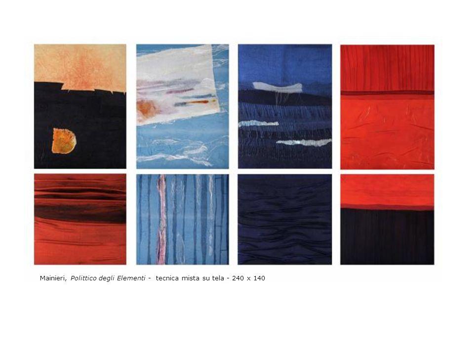 Mainieri, Polittico degli Elementi - tecnica mista su tela - 240 x 140