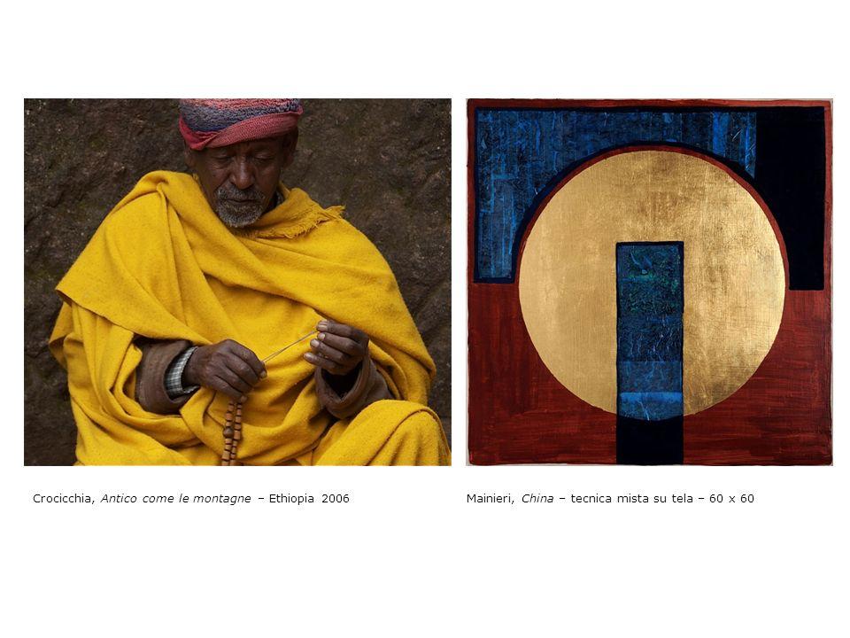 Mainieri, Ossido di ferro – tecnica mista su tela – 60 x 60 Crocicchia, Ocra, Madre terra – Ethiopia 2007