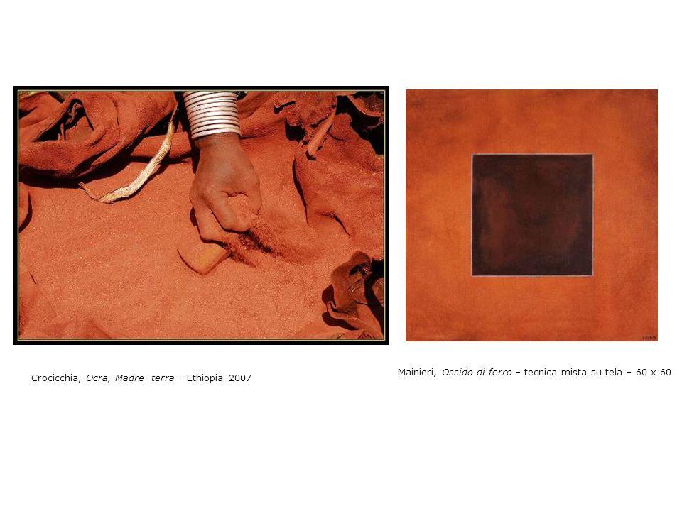 Mainieri, Lacca Urushi – tecnica mista su tela – 60 x 60 Crocicchia, Altri sguardi – Ethiopia 2007
