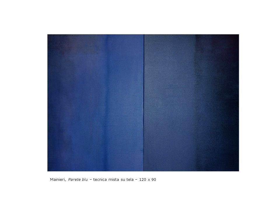 Mainieri, Parete blu – tecnica mista su tela – 120 x 90