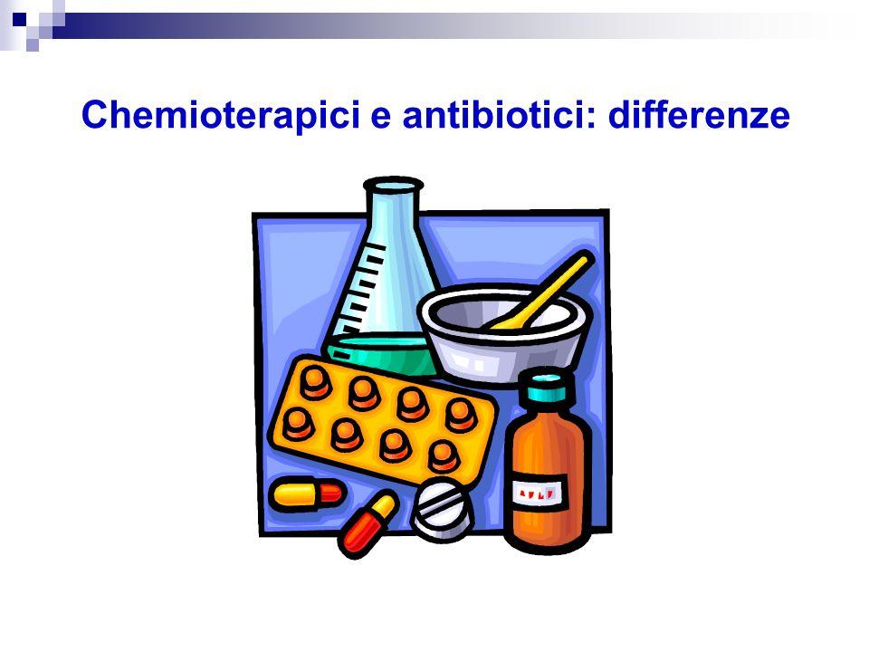 Chemioterapici Antibiotici Chemioterapici e antibiotici: differenze