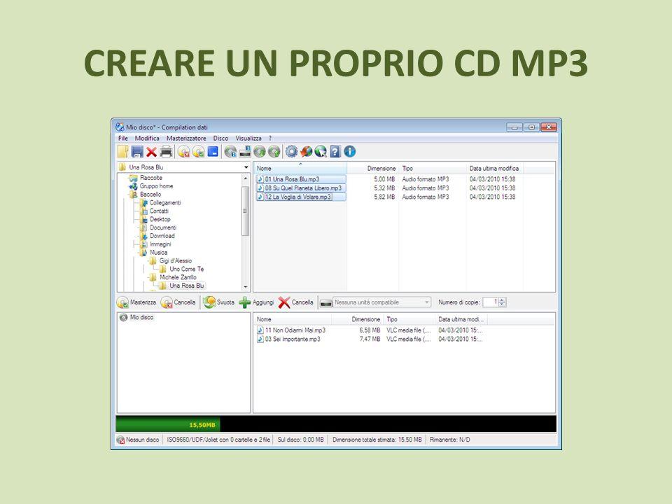 CREARE UN PROPRIO CD MP3