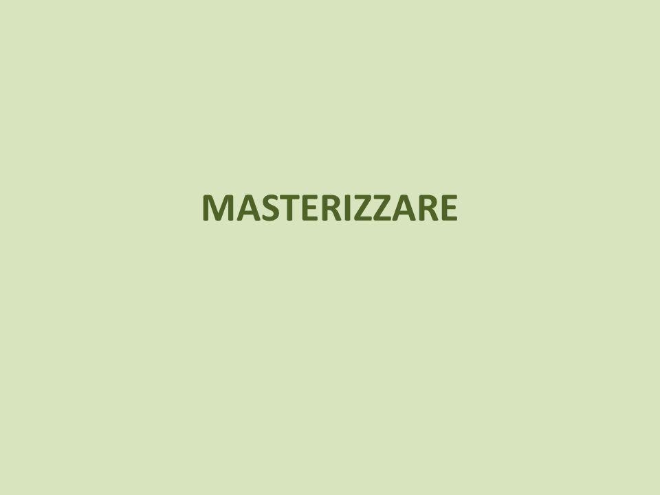 MASTERIZZARE