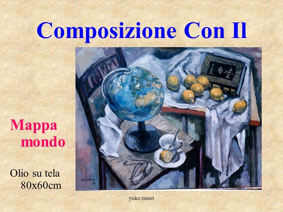 yuko tamei Bellissimi Frutti Natura Morta con Cocomero Olio su tela 50x70cm
