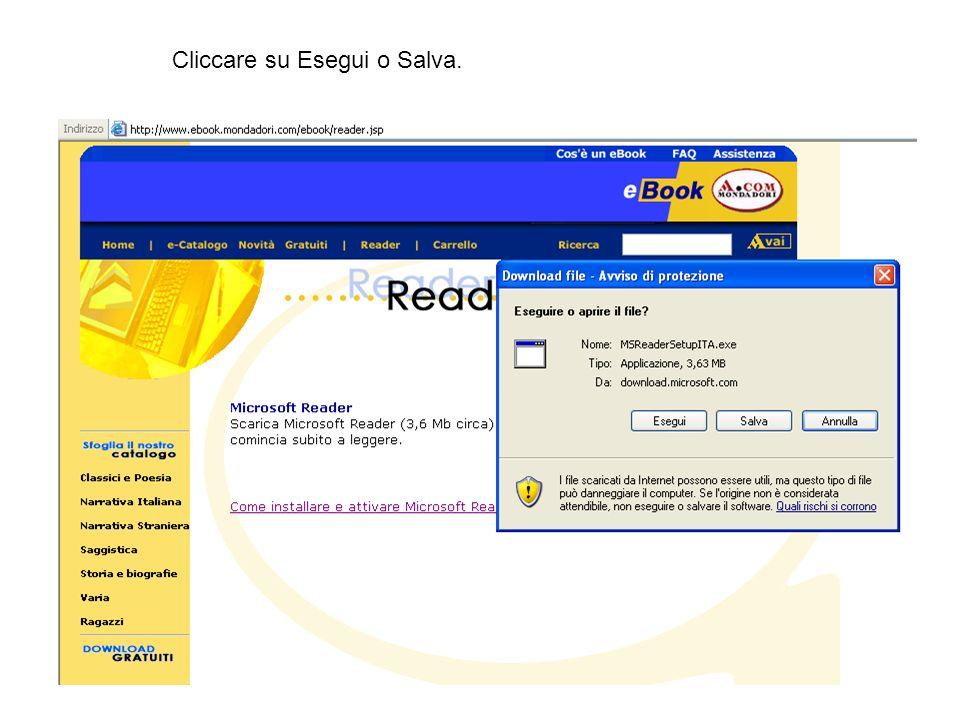 Poi su Scarica e automaticamente lebook si inserisce nella biblioteca virtuale.