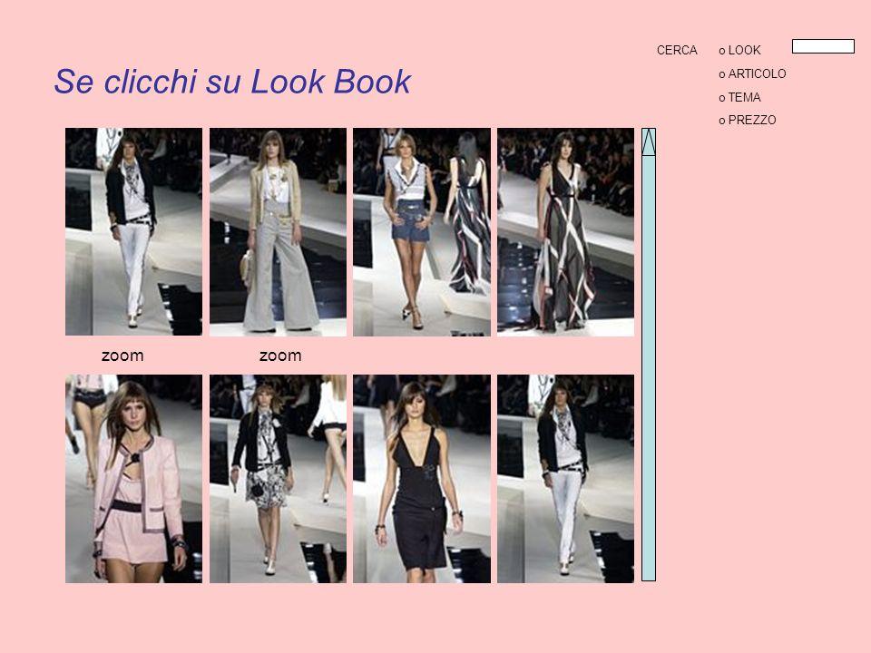 Se clicchi su Look Book zoom CERCAo LOOK o ARTICOLO o TEMA o PREZZO