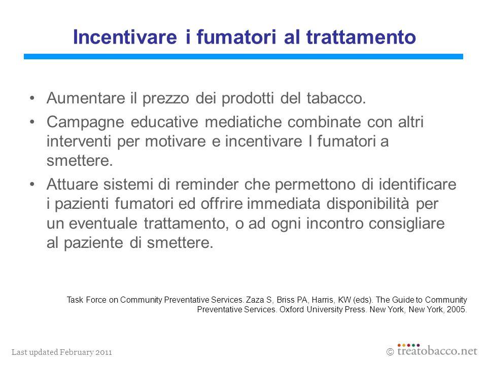 Last updated February 2011 Aumentare il prezzo dei prodotti del tabacco.