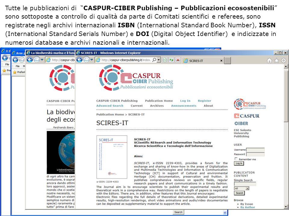 CASPUR-CIBER Publishing – Pubblicazioni ecosostenibili mette a disposizione delle Università consorziate e di altri Enti pubblici e di ricerca un servizio editoriale completo, integrato con il servizio Print on Demand (PoD), di stampa su richiesta solo quando strettamente necessario.