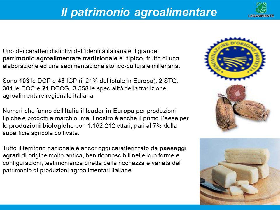 8 Il patrimonio agroalimentare Uno dei caratteri distintivi dellidentità italiana è il grande patrimonio agroalimentare tradizionale e tipico, frutto
