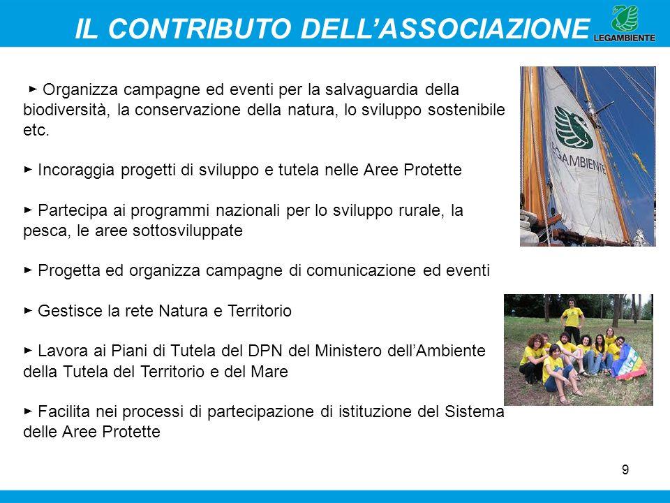 9 Organizza campagne ed eventi per la salvaguardia della biodiversità, la conservazione della natura, lo sviluppo sostenibile etc. Incoraggia progetti