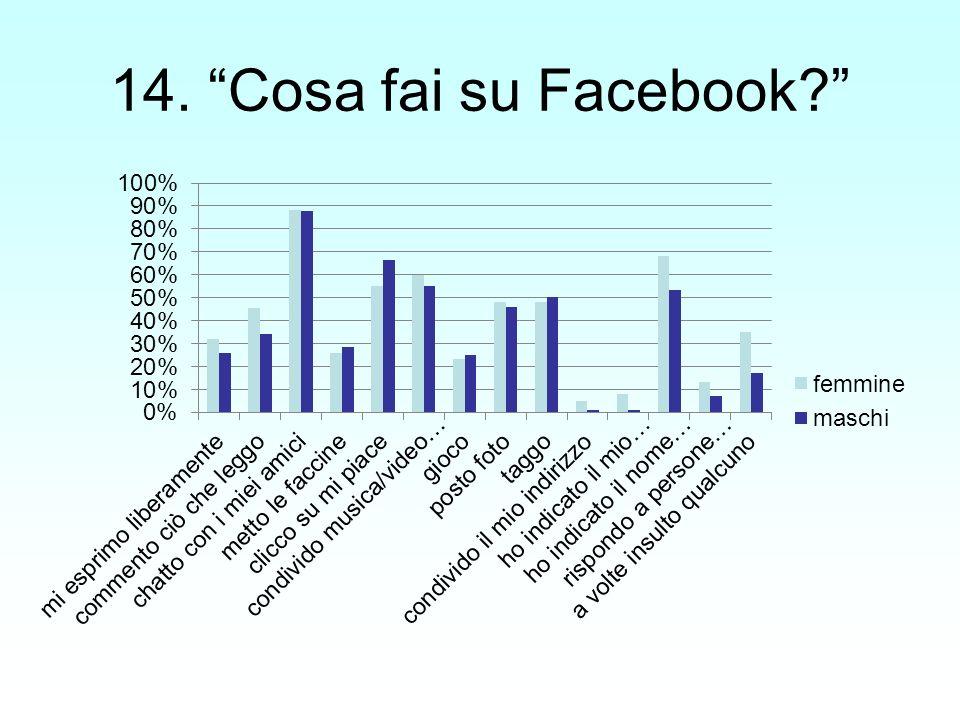 13. Ritieni che lutente di facebook utilizzi immagini non appropriate?