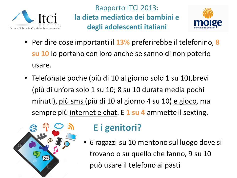 Per dire cose importanti il 13% preferirebbe il telefonino, 8 su 10 lo portano con loro anche se sanno di non poterlo usare. Telefonate poche (più di