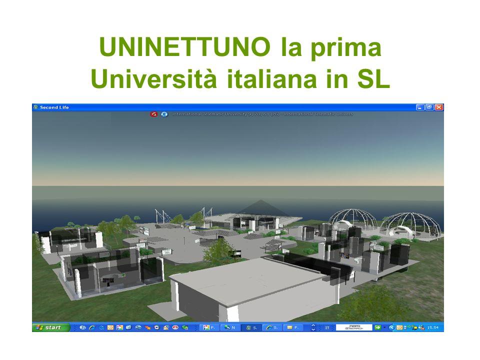 UNINETTUNO la prima Università italiana in SL