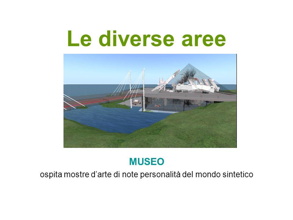 Le diverse aree MUSEO ospita mostre darte di note personalità del mondo sintetico