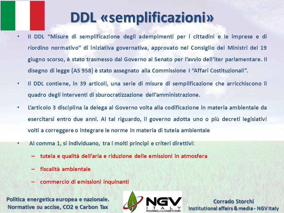 DDL «semplificazioni» Il DDL Misure di semplificazione degli adempimenti per i cittadini e le imprese e di riordino normativo di iniziativa governativ