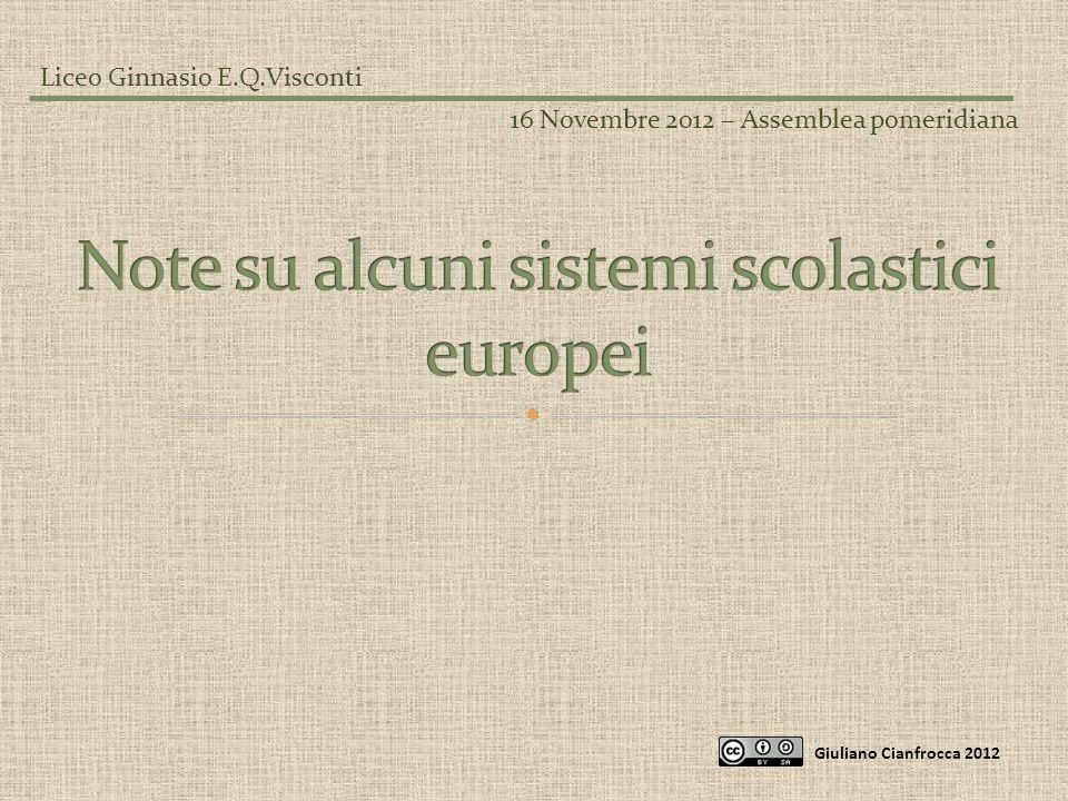 Giuliano Cianfrocca 2012 Liceo Ginnasio E.Q.Visconti 16 Novembre 2012 – Assemblea pomeridiana