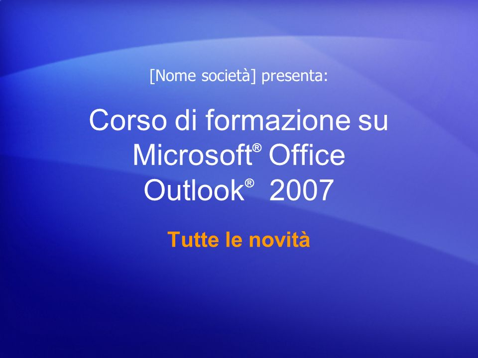 Tutte le novità Inviare e ricevere allegati e immagini L invio e la ricezione di file allegati in Outlook 2007 sono operazioni semplici da eseguire e in alcuni casi sono state semplificate rispetto alle versioni precedenti.