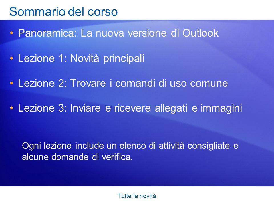 Tutte le novità Nuovo aspetto del calendario La nuova struttura del calendario di Outlook 2007 semplifica la visualizzazione e l apprendimento dei diversi elementi.