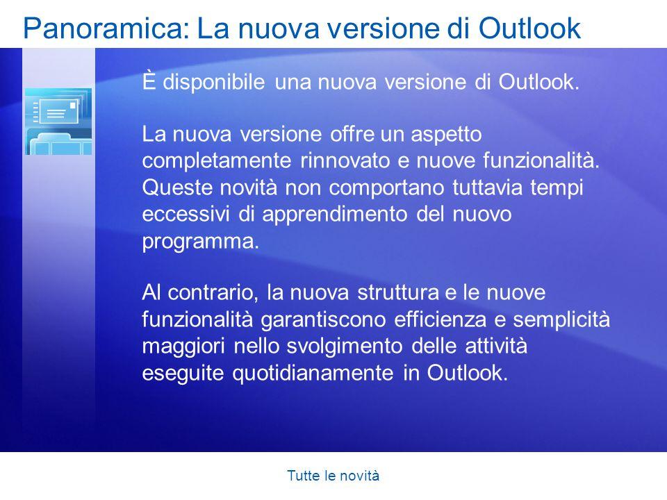 Tutte le novità Obiettivi del corso Esplorare Outlook 2007, acquisire familiarità con le modifiche e comprenderne i motivi.