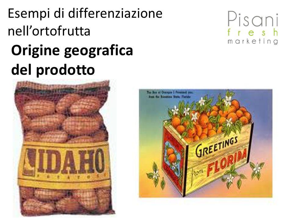 Esempi di differenziazione nellortofrutta Origine geografica del prodotto