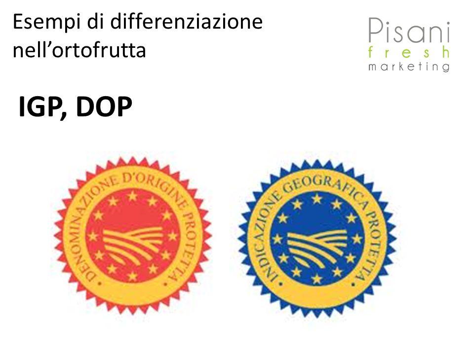IGP, DOP Esempi di differenziazione nellortofrutta