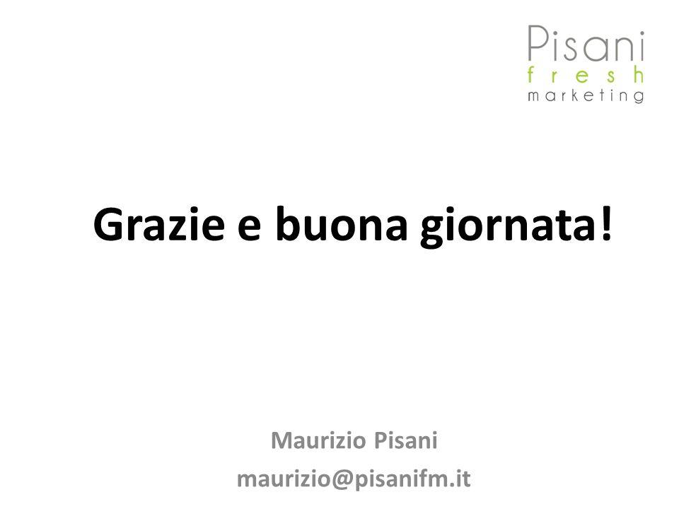 Grazie e buona giornata! Maurizio Pisani maurizio@pisanifm.it