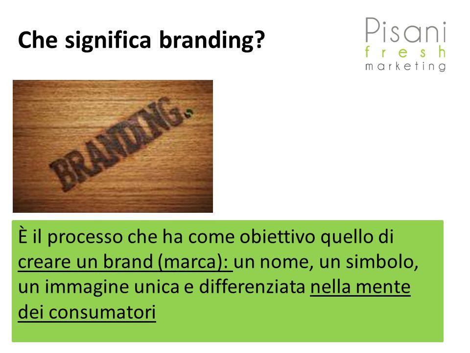 Che significa branding? È il processo che ha come obiettivo quello di creare un brand (marca): un nome, un simbolo, un immagine unica e differenziata