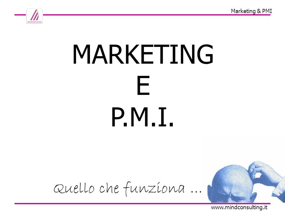 Marketing & PMI www.mindconsulting.it I L MARKETING RISCHIA DI ESSERE A FONDO PERDUTO … E DI SOLITO NON FINISCE BENE … (p.s.