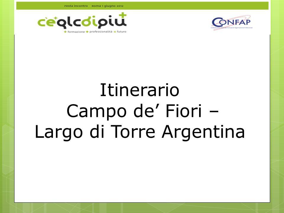 Itinerario Campo de Fiori – Largo di Torre Argentina