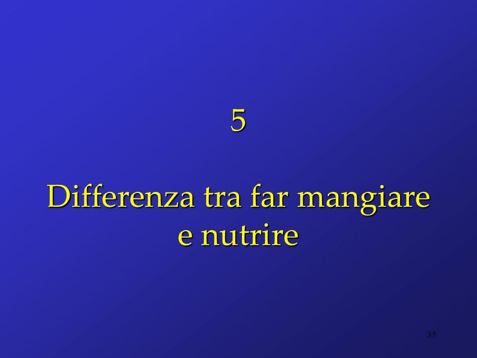 5 Differenza tra far mangiare e nutrire 35