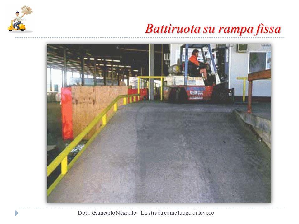 Battiruota su rampa fissa Dott. Giancarlo Negrello - La strada come luogo di lavoro
