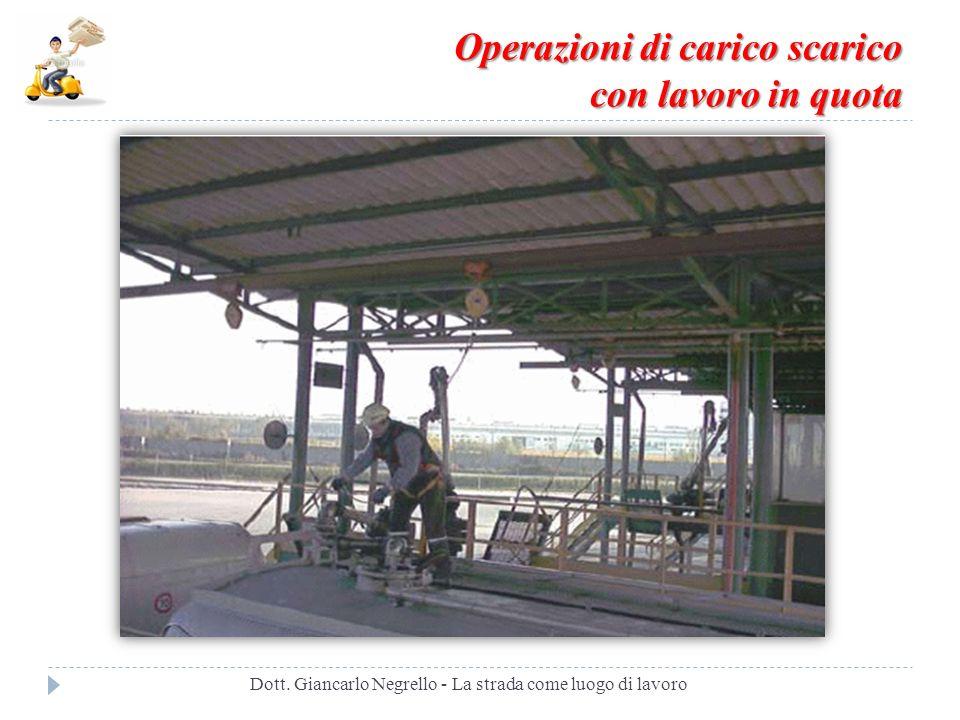 Operazioni di carico scarico con lavoro in quota Dott. Giancarlo Negrello - La strada come luogo di lavoro
