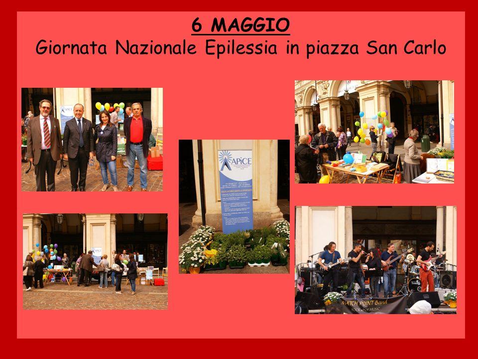 6 MAGGIO Giornata Nazionale Epilessia in piazza San Carlo
