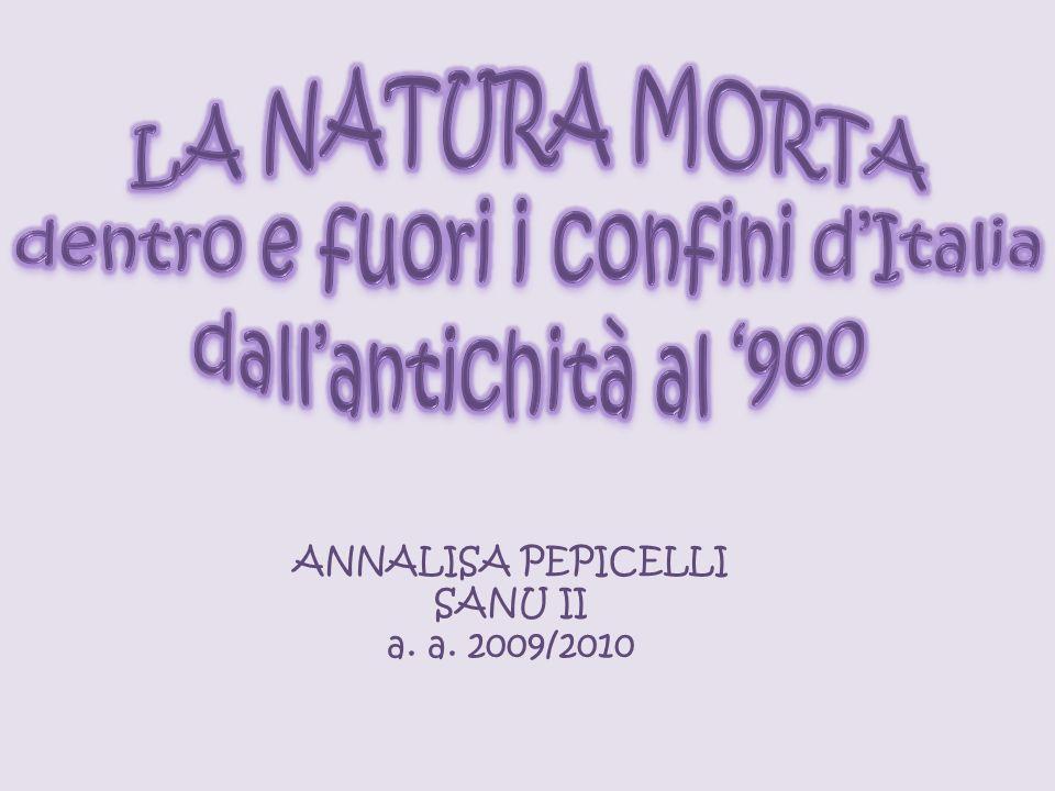 ANNALISA PEPICELLI SANU II a. a. 2009/2010