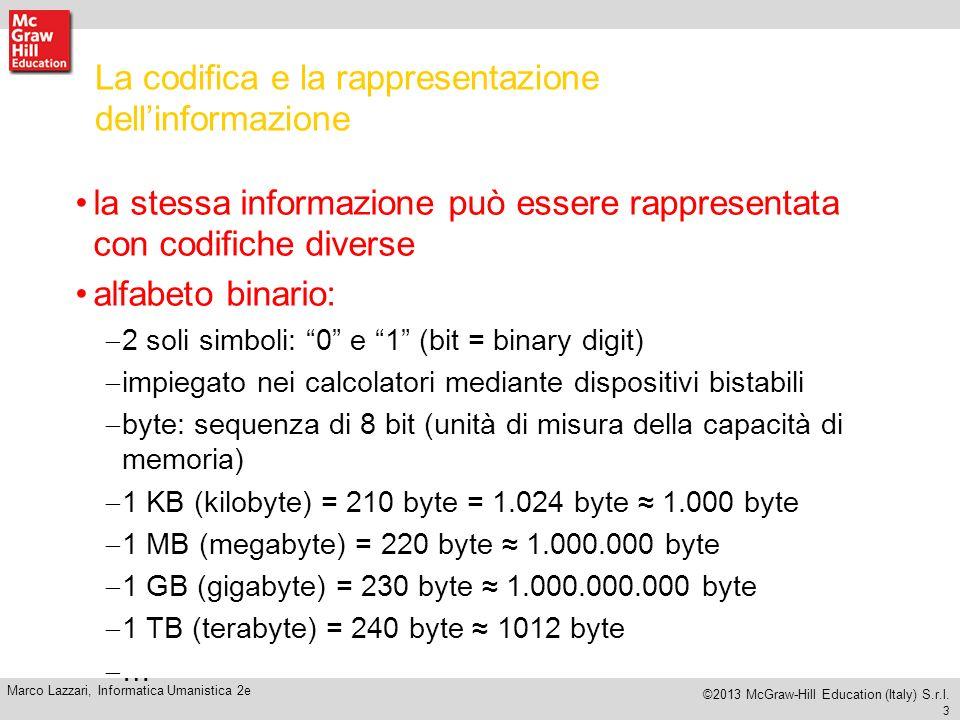 13 Marco Lazzari, Informatica Umanistica 2e ©2013 McGraw-Hill Education (Italy) S.r.l.