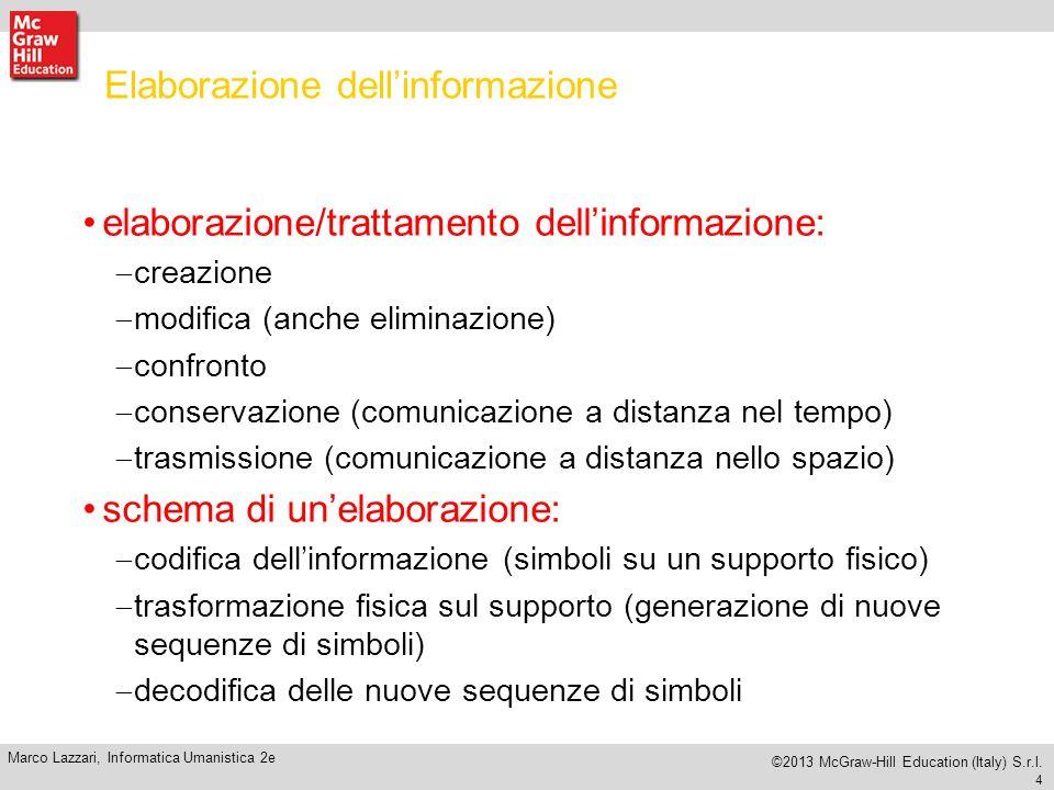 4 Marco Lazzari, Informatica Umanistica 2e ©2013 McGraw-Hill Education (Italy) S.r.l.