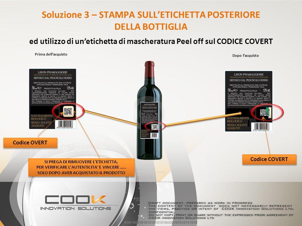 K Codice OVERT Codice COVERT SI PREGA DI RIMUOVERE LETICHETTA, PER VERIFICARE LAUTENTICITA E VINCERE …..