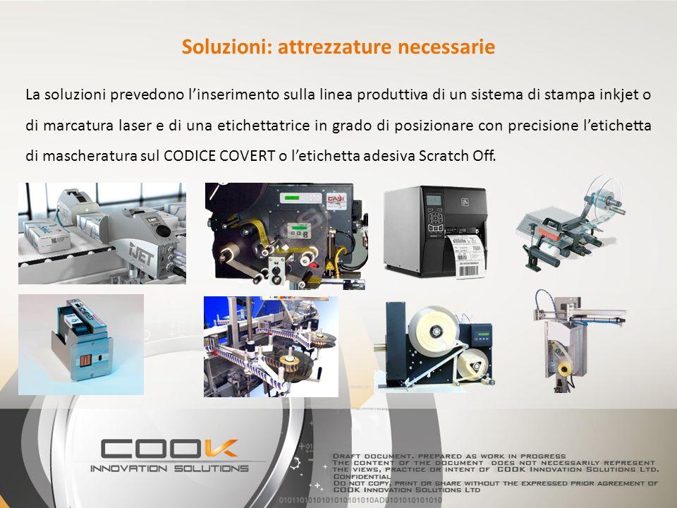 La soluzioni prevedono linserimento sulla linea produttiva di un sistema di stampa inkjet o di marcatura laser e di una etichettatrice in grado di pos