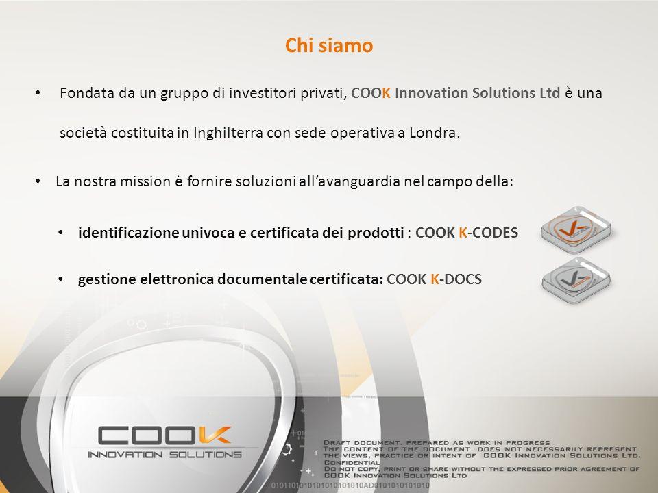 Fondata da un gruppo di investitori privati, COOK Innovation Solutions Ltd è una società costituita in Inghilterra con sede operativa a Londra. Chi si