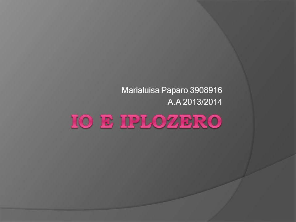 Marialuisa Paparo 3908916 A.A 2013/2014