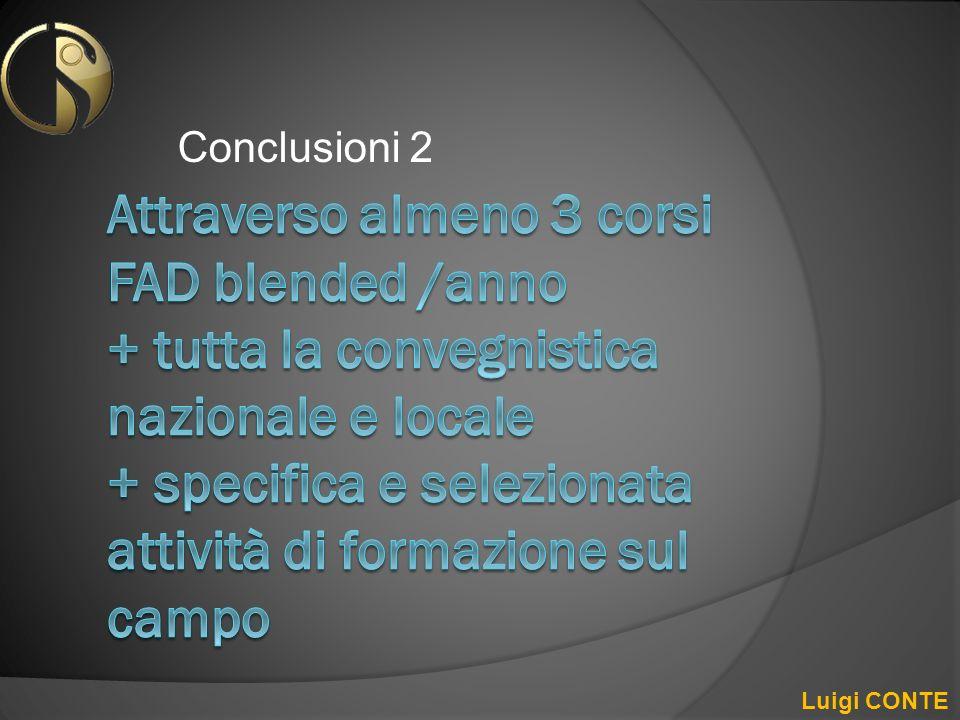 Conclusioni 2 Luigi CONTE