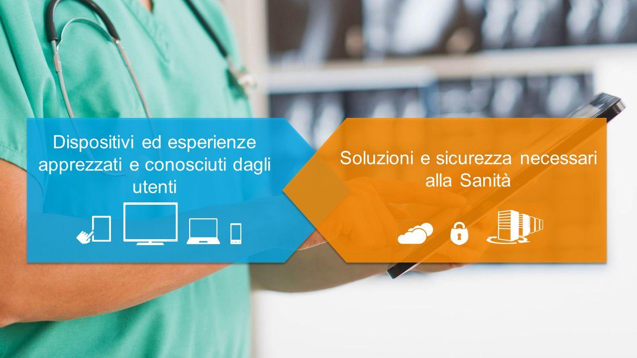 Dispositivi ed esperienze apprezzati e conosciuti dagli utenti Soluzioni e sicurezza necessari alla Sanità