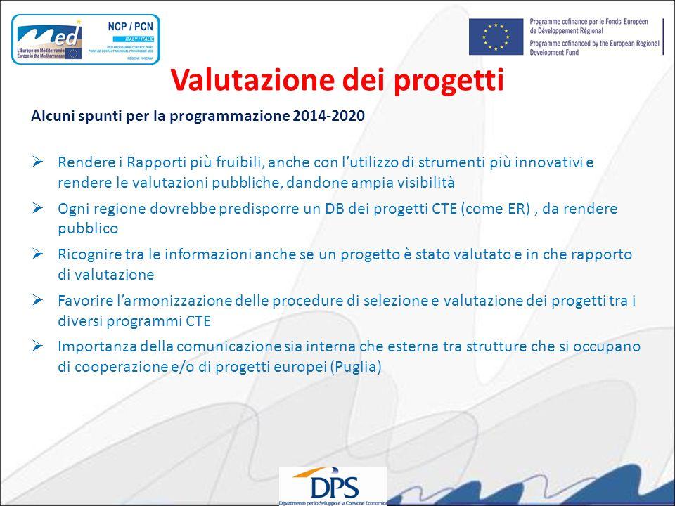 Alcuni spunti per la programmazione 2014-2020 Rendere i Rapporti più fruibili, anche con lutilizzo di strumenti più innovativi e rendere le valutazion