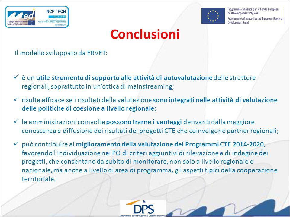 Il modello sviluppato da ERVET: è un utile strumento di supporto alle attività di autovalutazione delle strutture regionali, soprattutto in unottica d