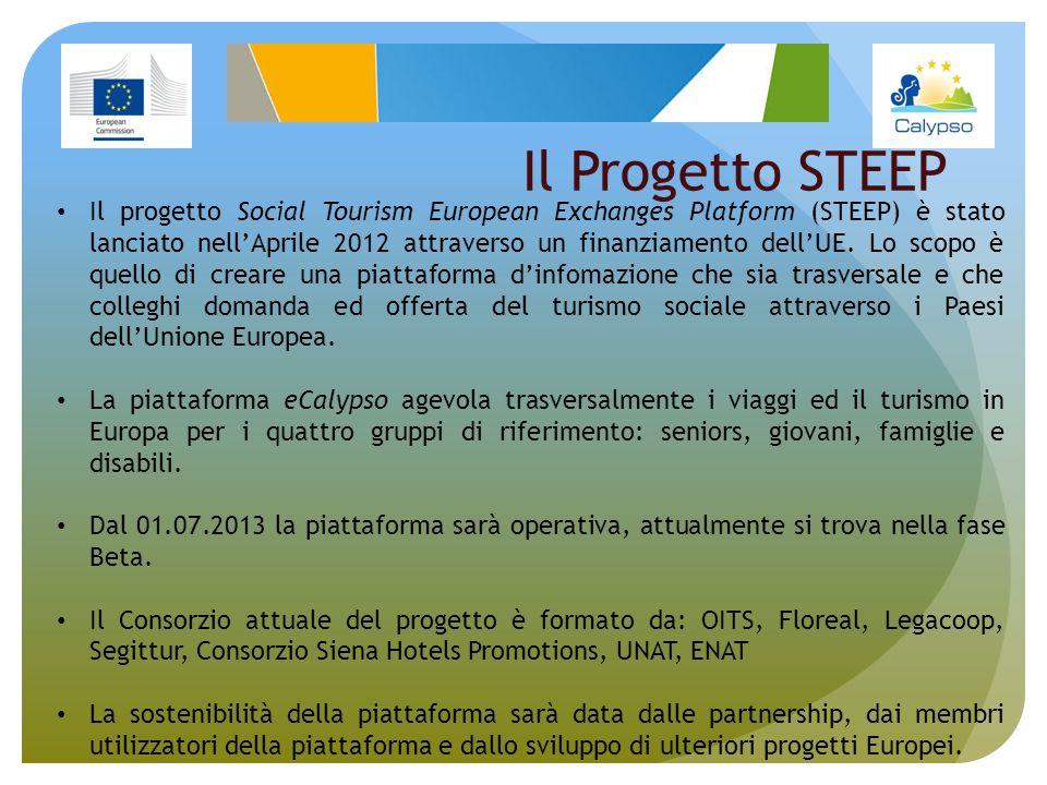 Il Progetto STEEP Il progetto Social Tourism European Exchanges Platform (STEEP) è stato lanciato nellAprile 2012 attraverso un finanziamento dellUE.
