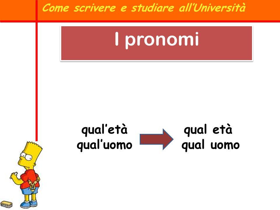 Il pronome relativo CHE si utilizza solo per il SOGGETTO e per il complemento OGGETTO; in tutti gli altri casi si usa CUI Come scrivere e studiare allUniversità I pronomi