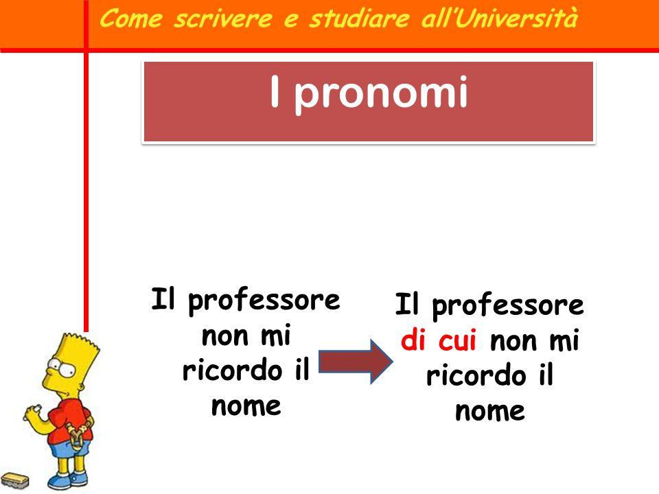 La forma GLI non si può usare per indicare A LEI femminile, ma è accettata per indicare a LORO Come scrivere e studiare allUniversità I pronomi