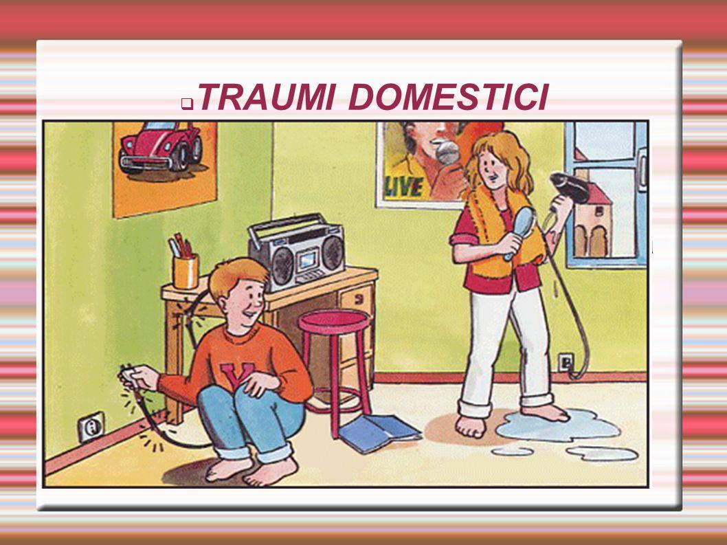 TRAUMI DOMESTICI Trauma domestico, tutti gli avvenimenti che accadono all'interno delle abitazioni.Dal punto di vista ortopedico maggior rilevanza è d